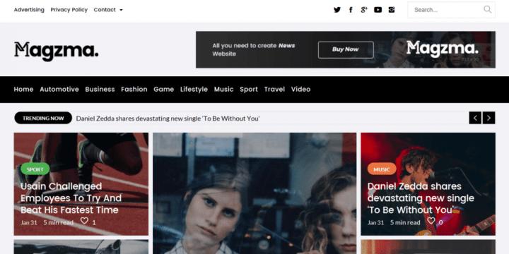 Magzma – A Powerful Magazine Theme
