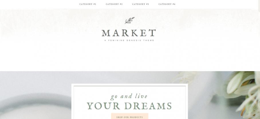 Market – 3rd Party Genesis Framework Theme