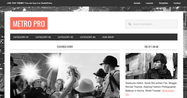 Metro Pro – StudioPress Sites Theme
