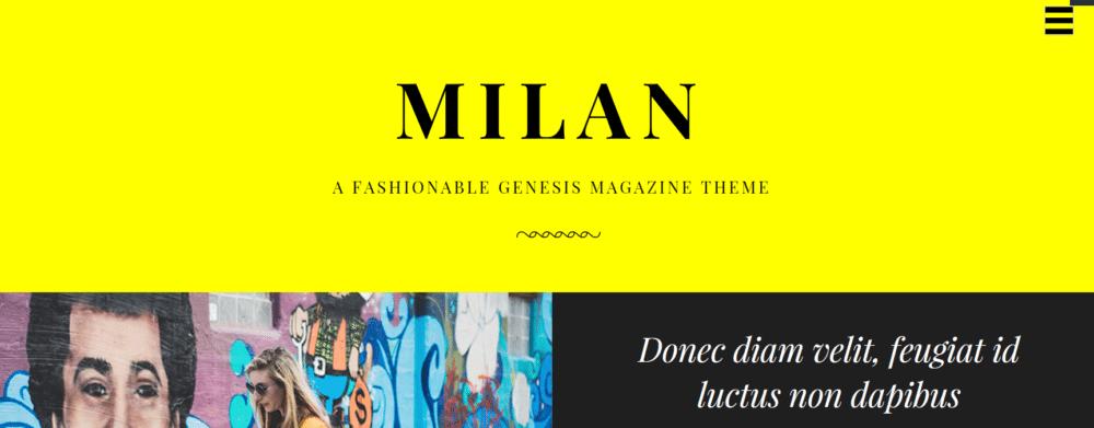 Milan Pro – 3rd Party Genesis Framework Theme