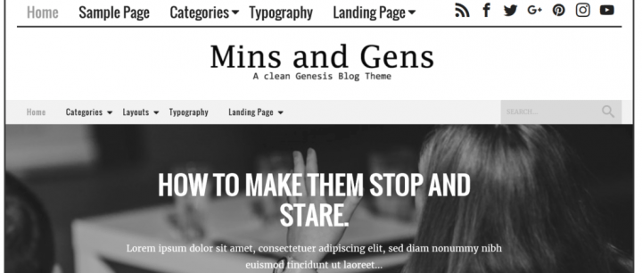 Mins & Gens – 3rd Party Genesis Framework Theme