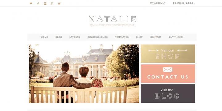 Natalie – 3rd Party Genesis Framework  Theme