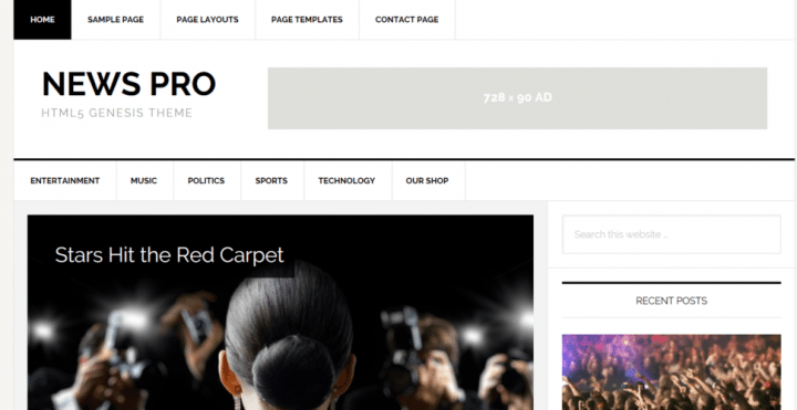 News Pro – StudioPress Sites Theme