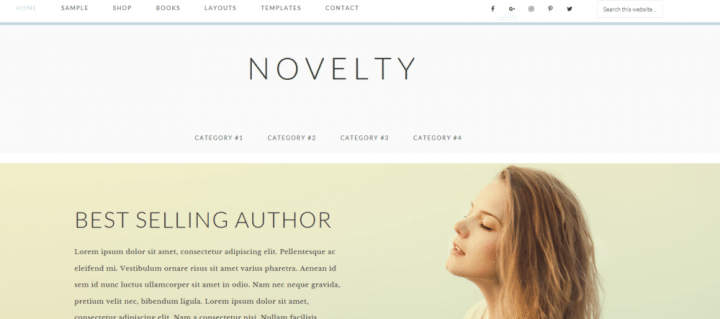 Novelty – 3rd Party Genesis Framework Theme
