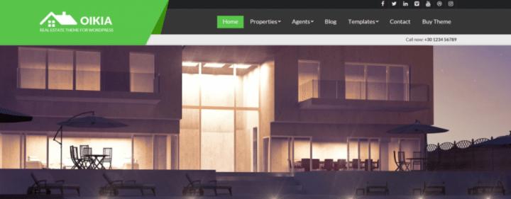 Oikia – A Premium Real Estate Theme For Companies