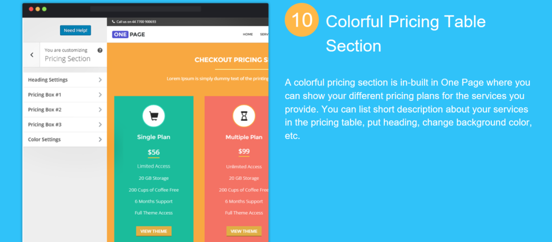 Onepage Pricing