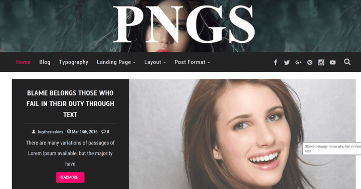 PNGS – 3rd Party Genesis Framework Theme