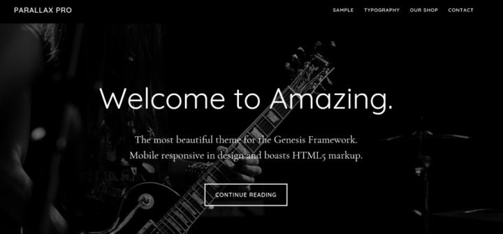Parallax Pro –  StudioPress Sites Theme