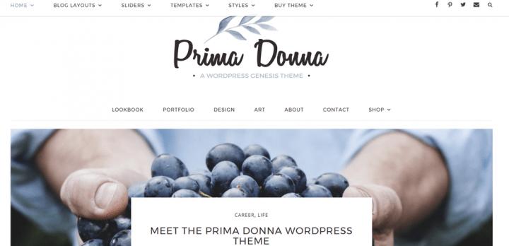 Prima Donna – 3rd Party Genesis Framework Theme