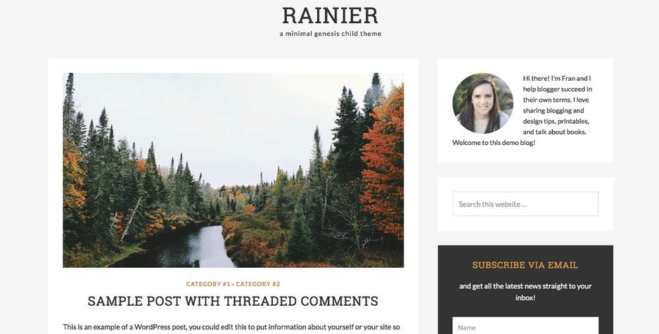 Rainier – 3rd Party Genesis Framework Theme