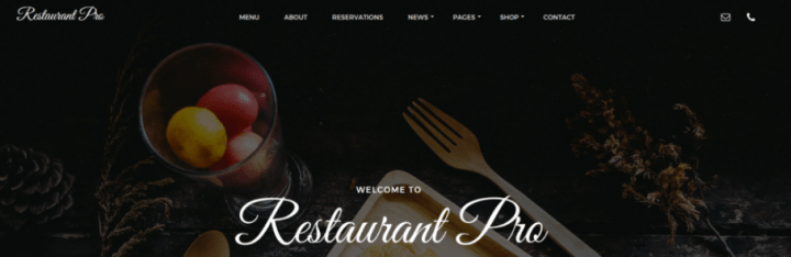Restaurant Pro – 3rd Party Genesis Framework Theme