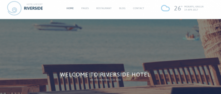 RiverSide Resort – A Hotel and Resort WordPress Theme