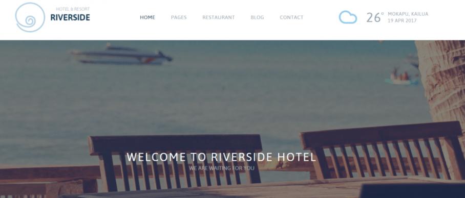 RiverSide Resort – A Hotel and Resort WordPress Theme