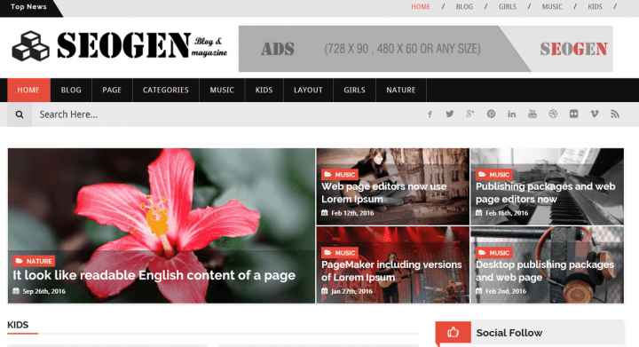 SEOGEN – 3rd Party Genesis Framework Theme