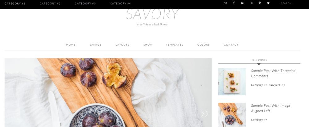 Savory – 3rd Party Genesis Framework Theme