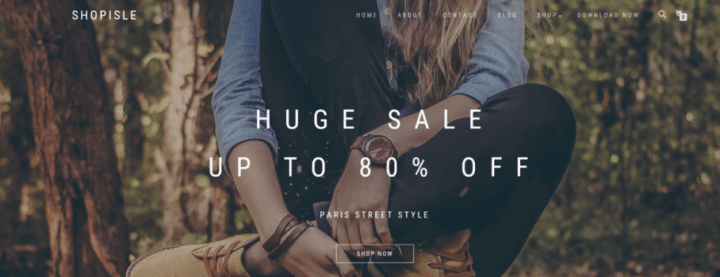 ShopIsle – Free Ecommerce Theme For Bloggers