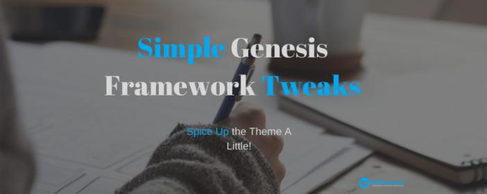 Simple Genesis Framework Tweak