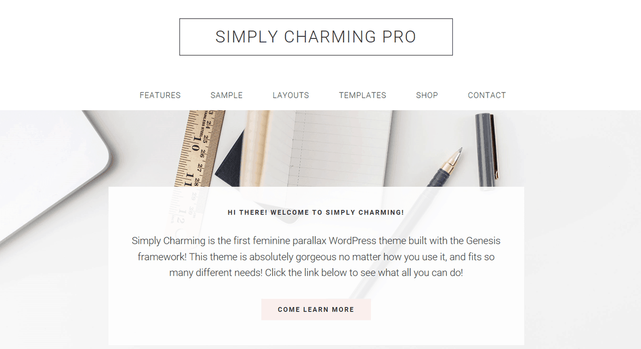 Simply Charming – 3rd Party Genesis Framework Theme
