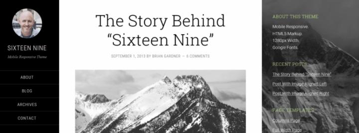 Sixteen Nine Pro – StudioPress Sites Theme