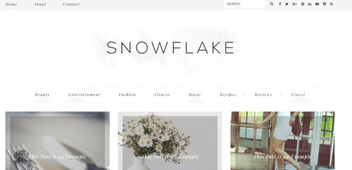 Snow Flake – 3rd Party Genesis Framework Theme