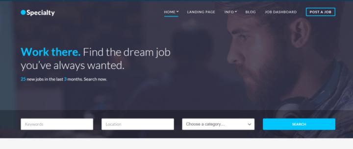 Specialty – A Premium WordPress Job Board Theme