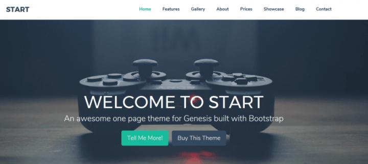 Start – 3rd Party Genesis Framework Theme