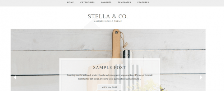 Stella & Co. – 3rd Party Genesis Framework Theme