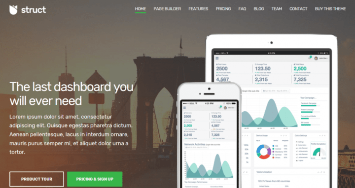 Struct – A Business Theme For Startups