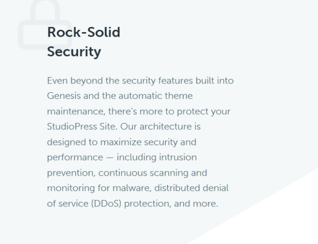 StudioPress Rock Solid Security