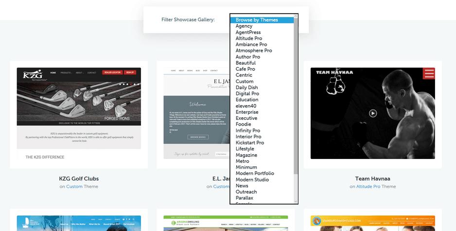 StudioPress Showcase Blogs