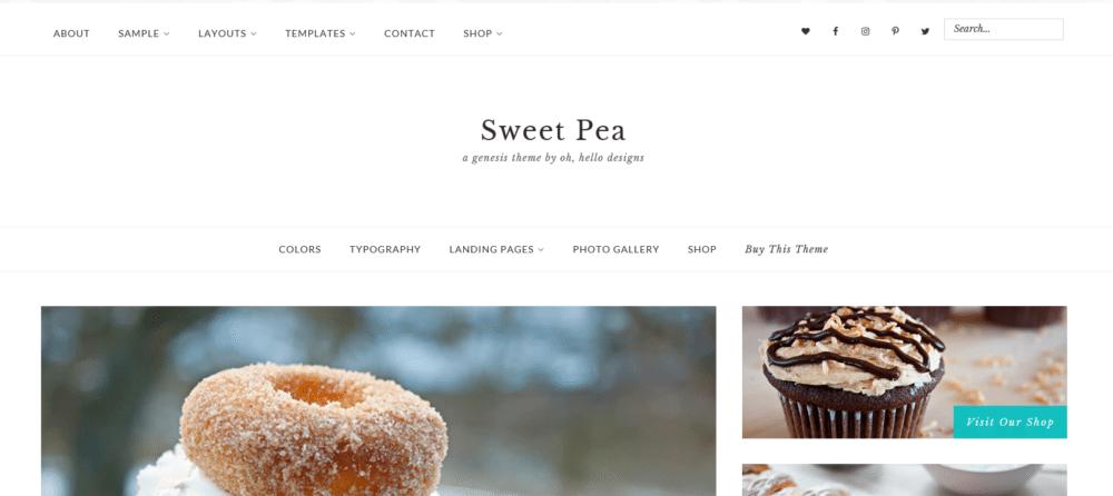 Sweet Pea – 3rd Party Genesis Framework Theme