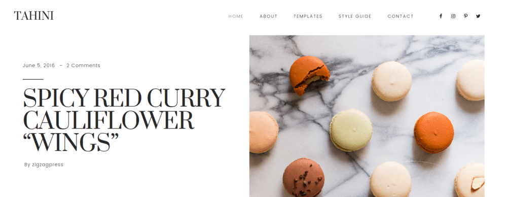 Tahini – 3rd Party Genesis Framework Theme
