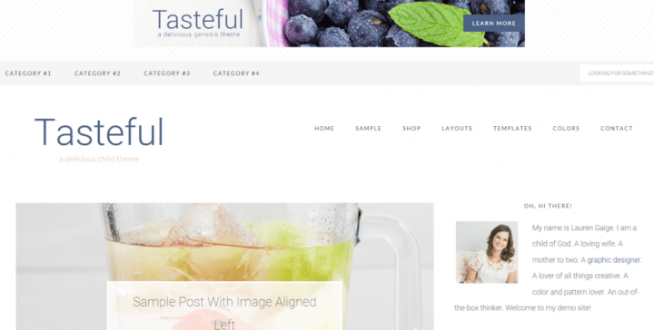 Tasteful – 3rd Party Genesis Framework Theme