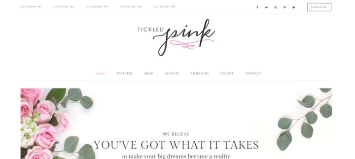 Tickled Pink – 3rd Party Genesis Framework Theme