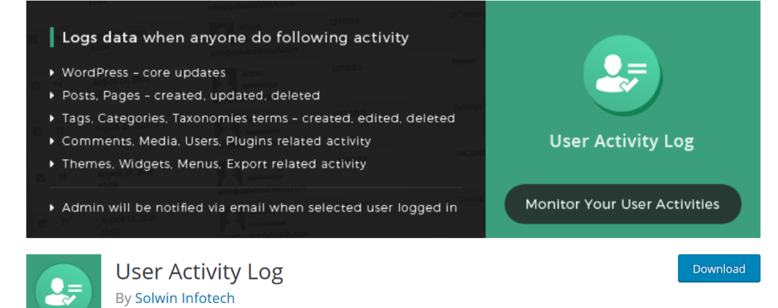 User Activity Log