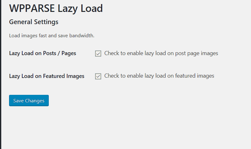 WPParse Lazy Load