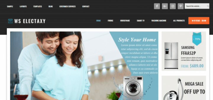 WS Electaxy – 3rd Party Genesis Framework Theme