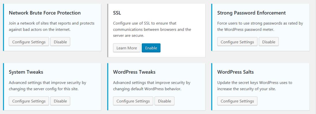 Wordpress Security feature