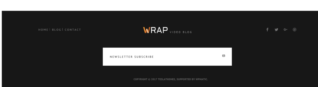 Wrap Footer Widget