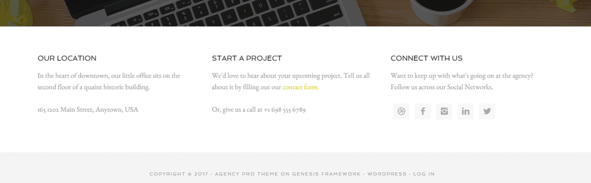 agency footer