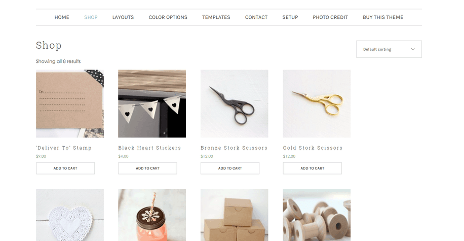 beautique shop page