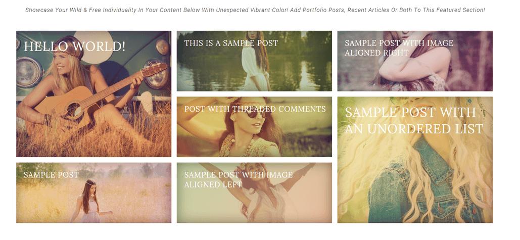 boho beauty homepage