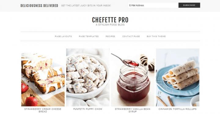 Chefette – 3rd Party Genesis Framework Theme