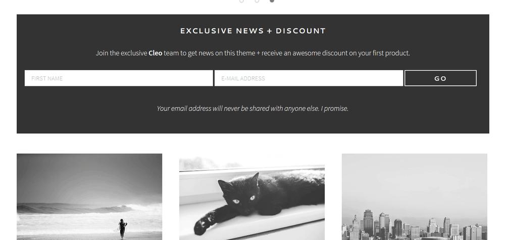 cleo homepage widget