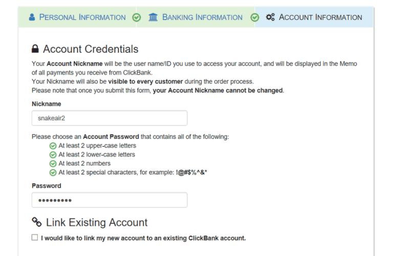 clickbank account