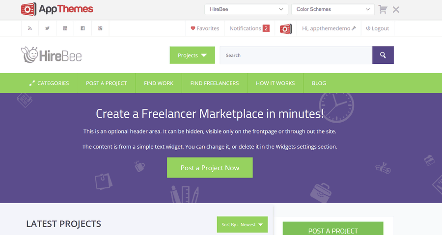 freelance project theme