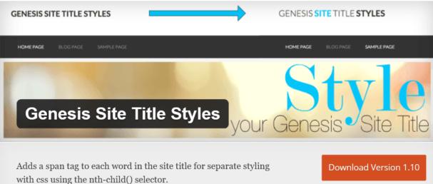 genesis site titles