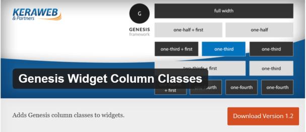 genesis widget class