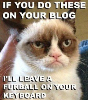 grumpy mad at blogging