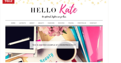 Hello Kate – 3rd Party Genesis Framework Theme